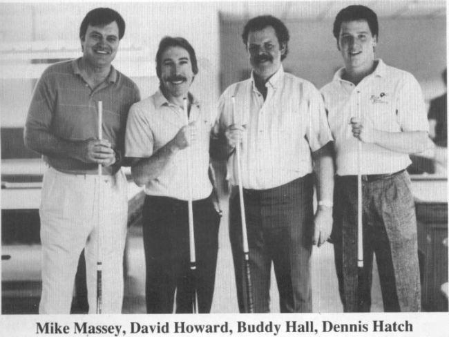 Vintage photo of Mike Massey, David Howard, Buddy Hall and Dennis Hatch
